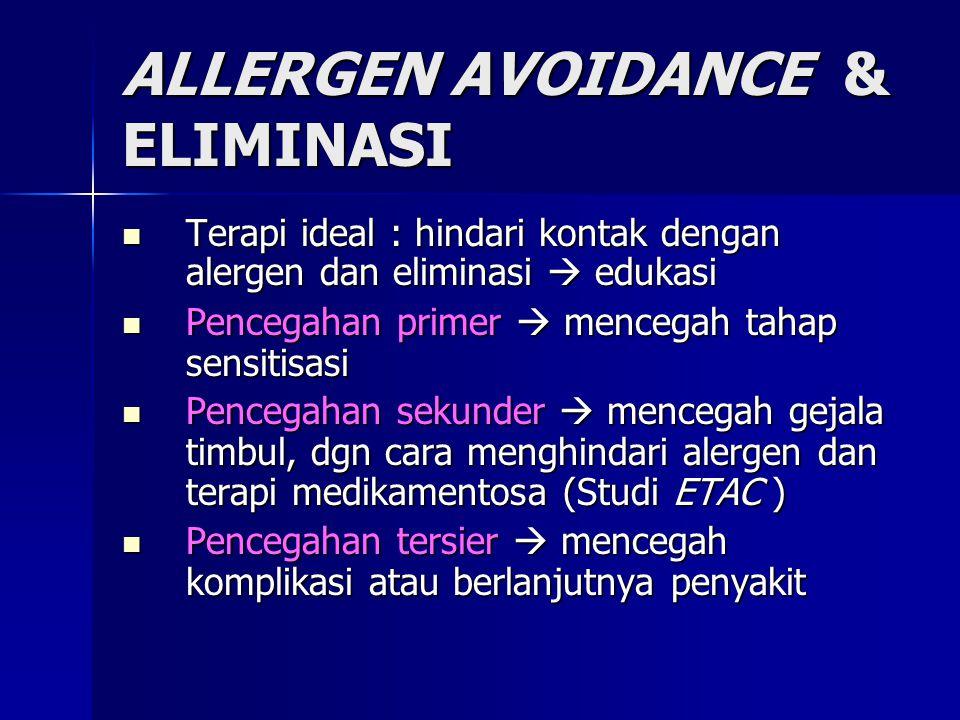 ALLERGEN AVOIDANCE & ELIMINASI
