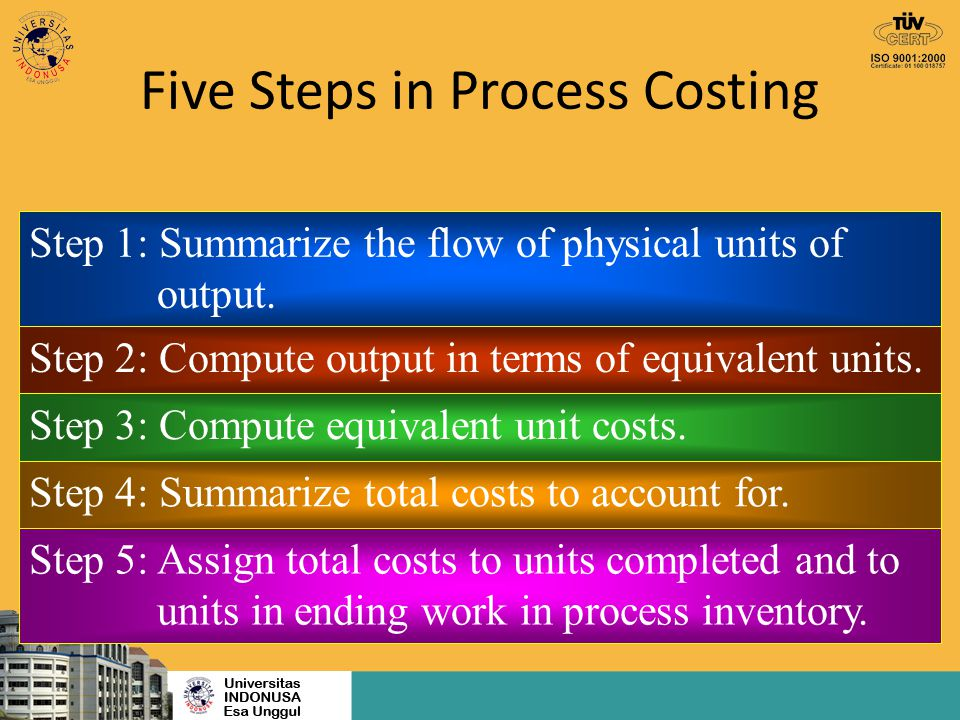 Five Steps in Process Costing