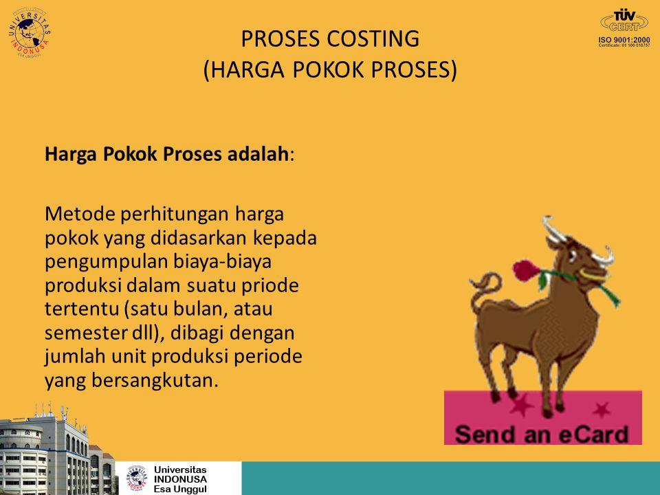 PROSES COSTING (HARGA POKOK PROSES)