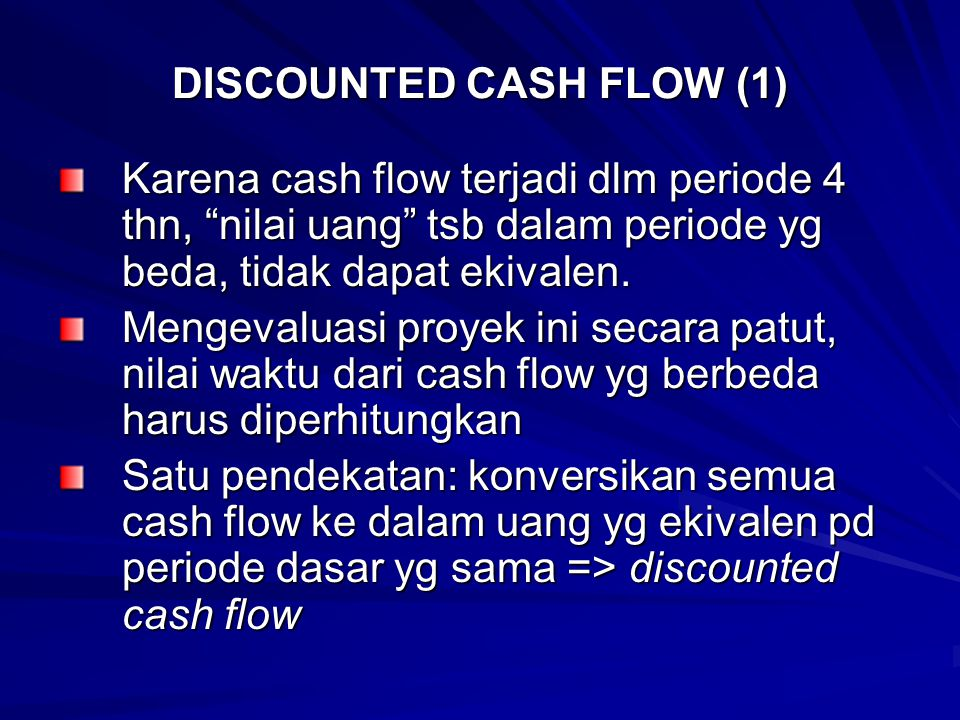 DISCOUNTED CASH FLOW (1)