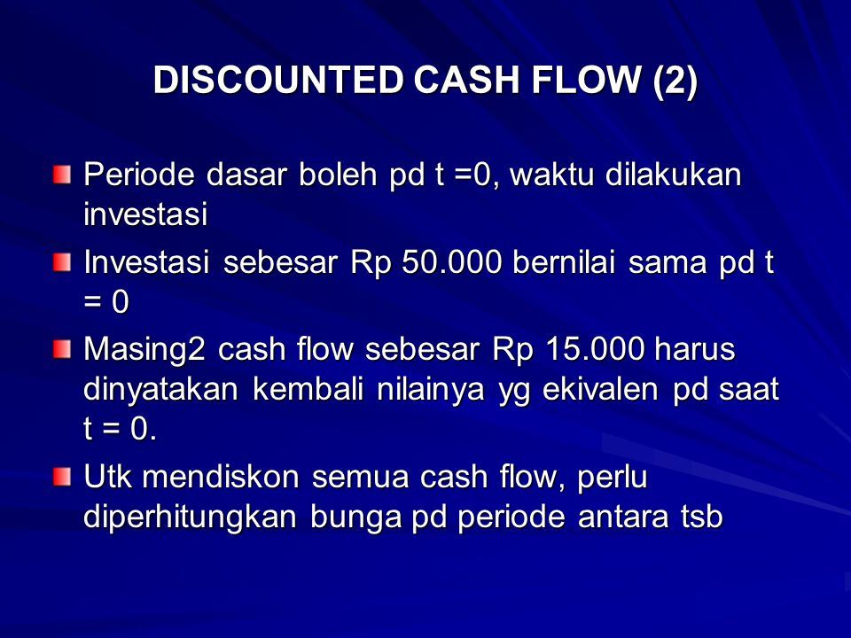 DISCOUNTED CASH FLOW (2)