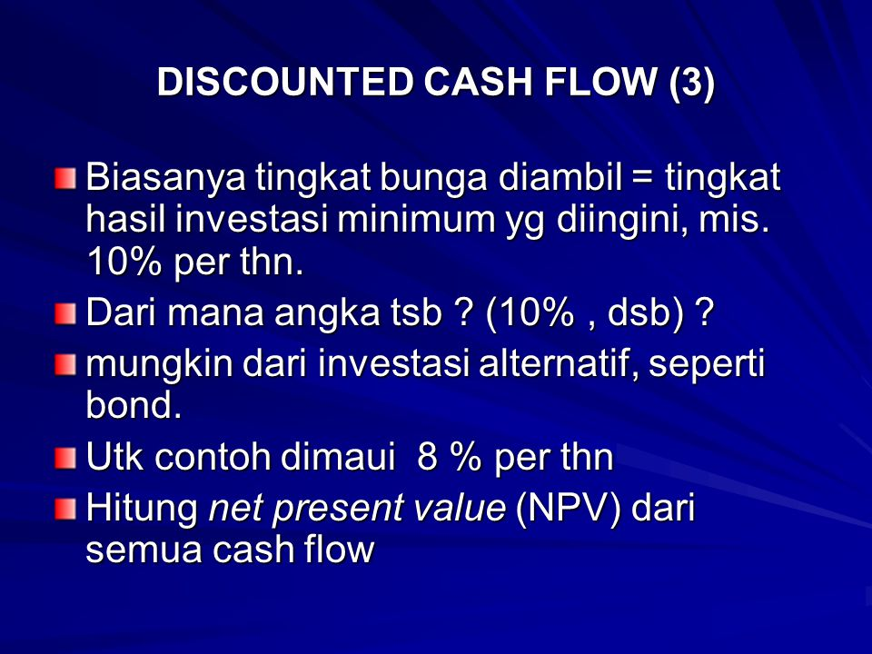 DISCOUNTED CASH FLOW (3)
