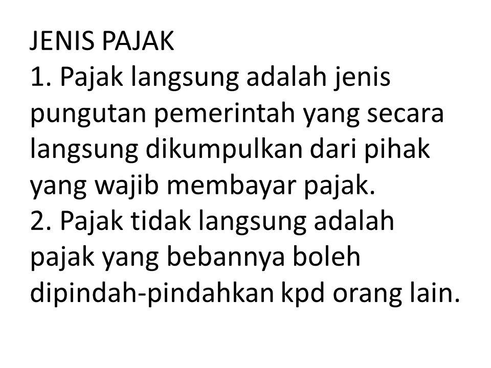 JENIS PAJAK 1.