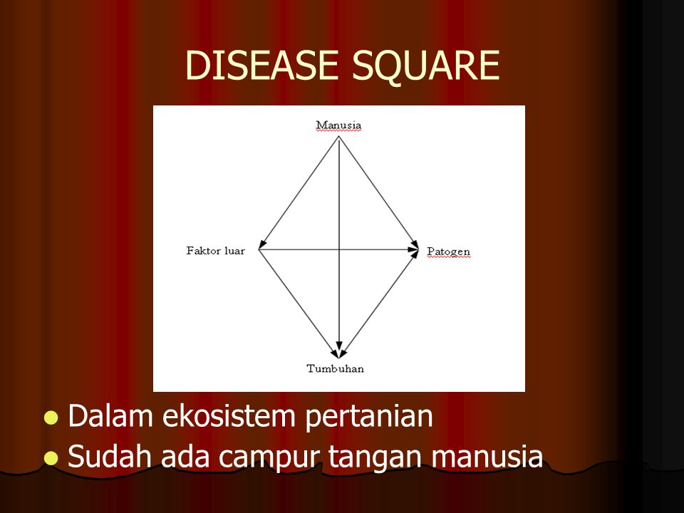DISEASE SQUARE Dalam ekosistem pertanian