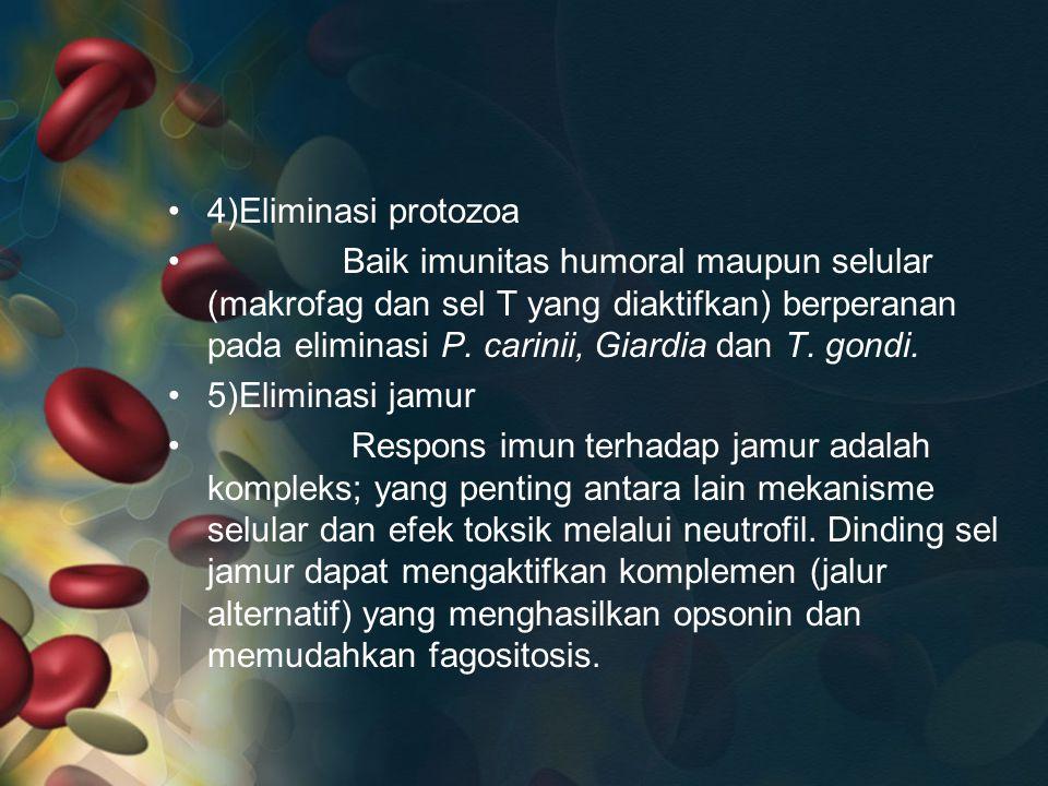4)Eliminasi protozoa