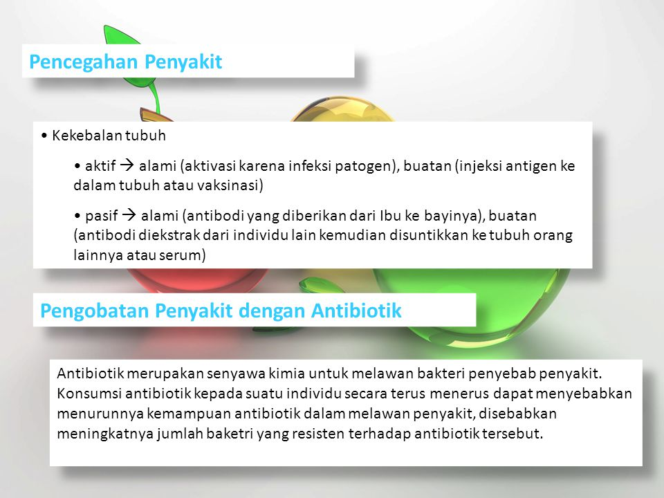 Pengobatan Penyakit dengan Antibiotik