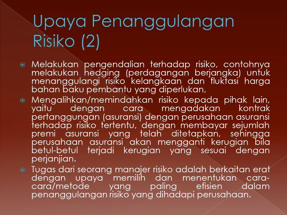 Upaya Penanggulangan Risiko (2)