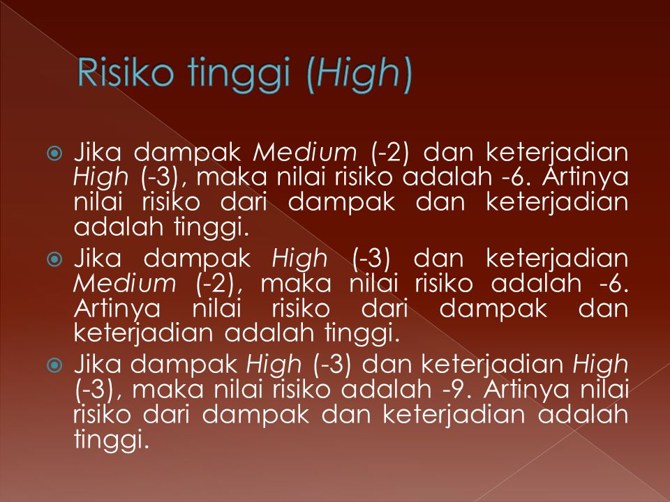 Risiko tinggi (High)