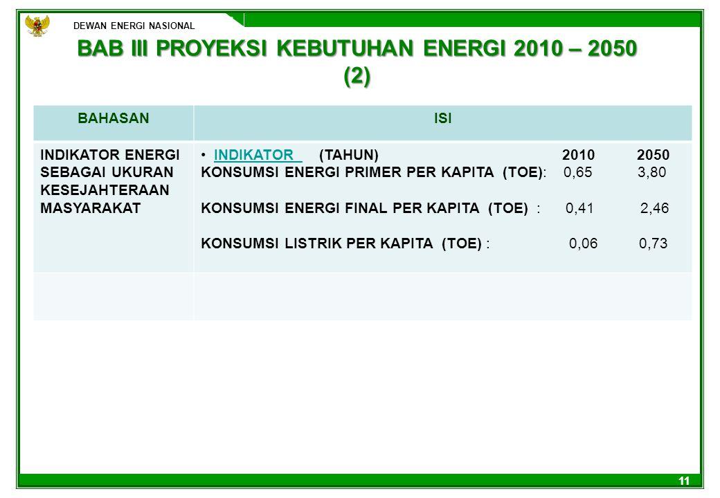 BAB III PROYEKSI KEBUTUHAN ENERGI 2010 – 2050 (2)
