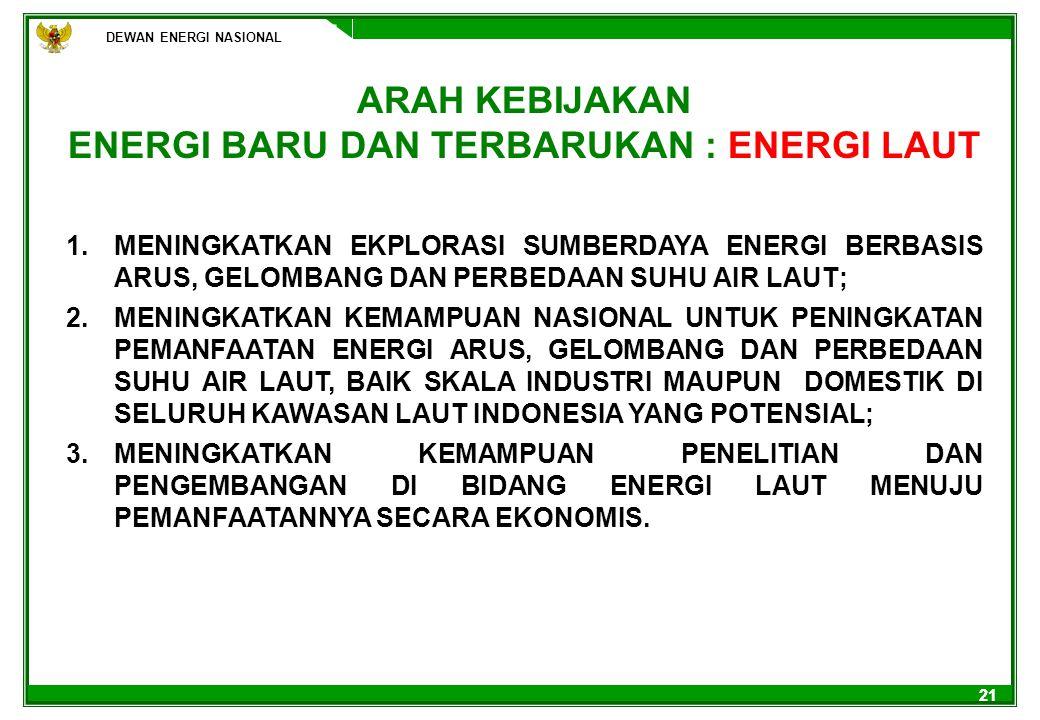 ENERGI BARU DAN TERBARUKAN : ENERGI LAUT