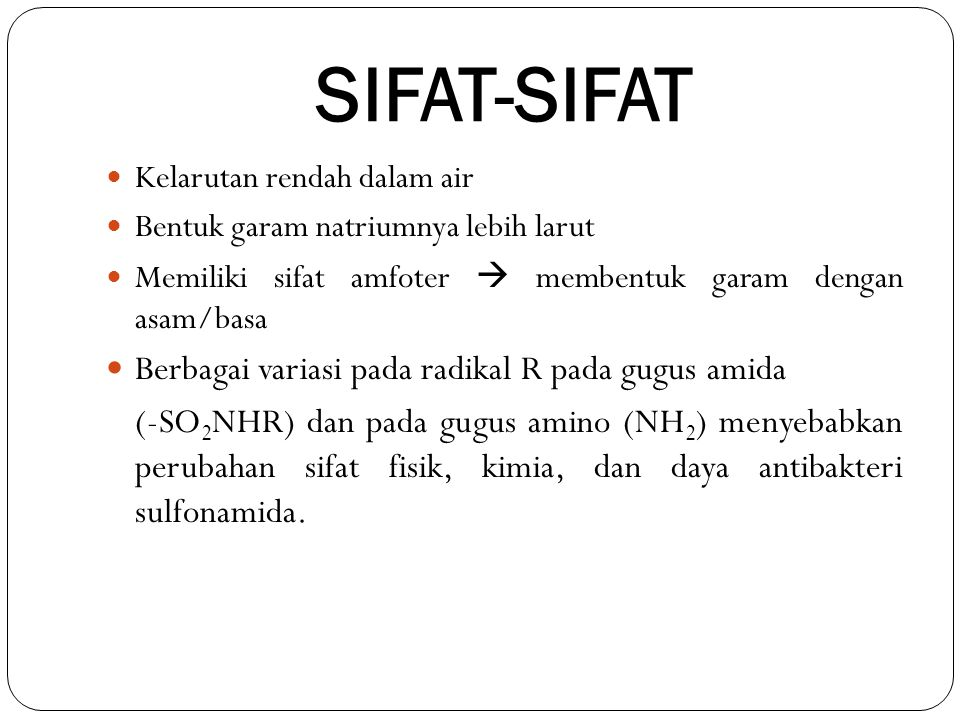 SIFAT-SIFAT Berbagai variasi pada radikal R pada gugus amida