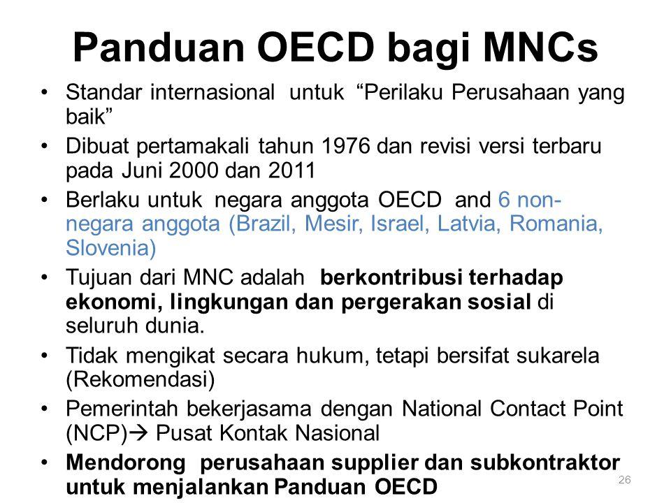 Panduan OECD bagi MNCs Standar internasional untuk Perilaku Perusahaan yang baik