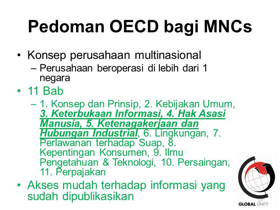 Pedoman OECD bagi MNCs Konsep perusahaan multinasional 11 Bab