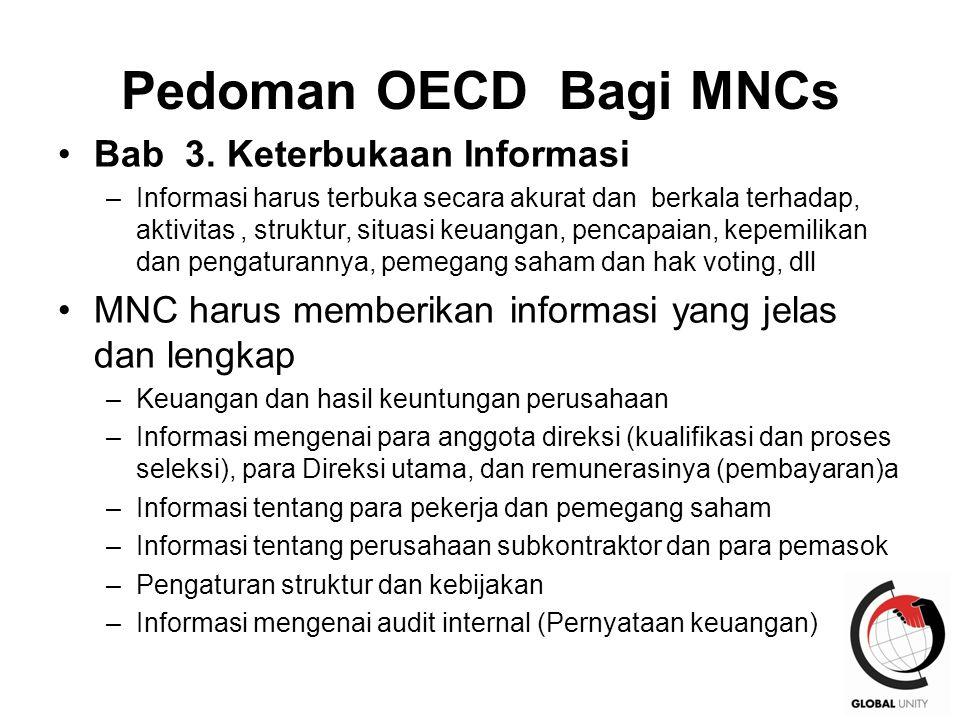 Pedoman OECD Bagi MNCs Bab 3. Keterbukaan Informasi
