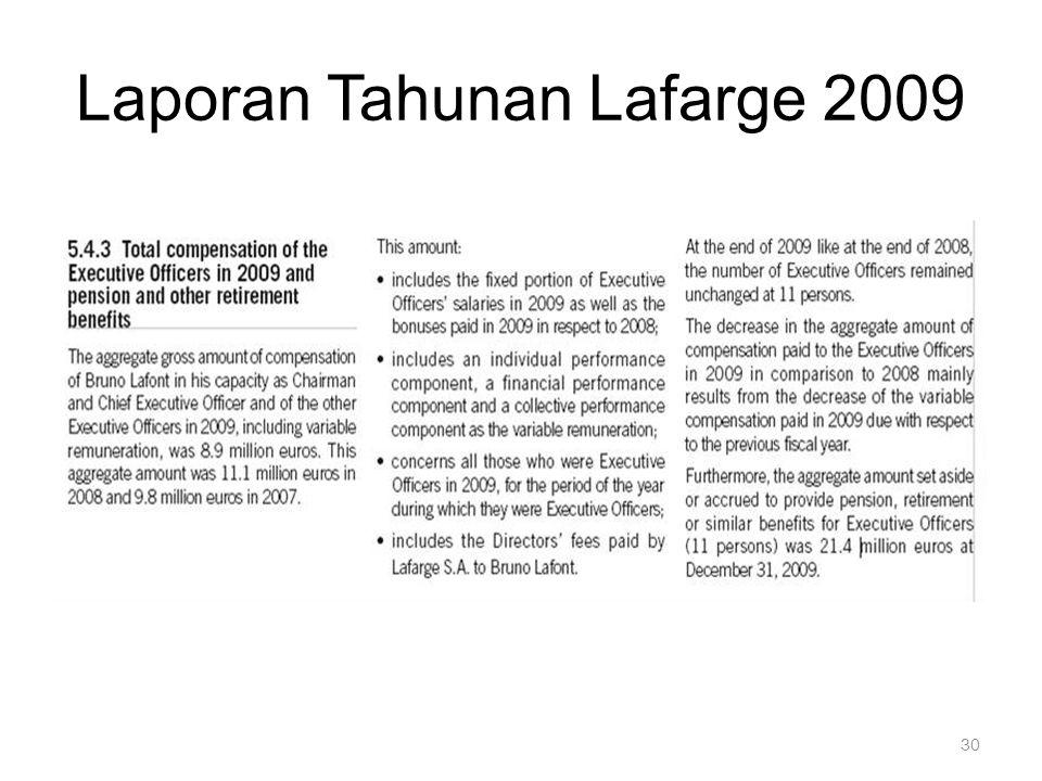 Laporan Tahunan Lafarge 2009