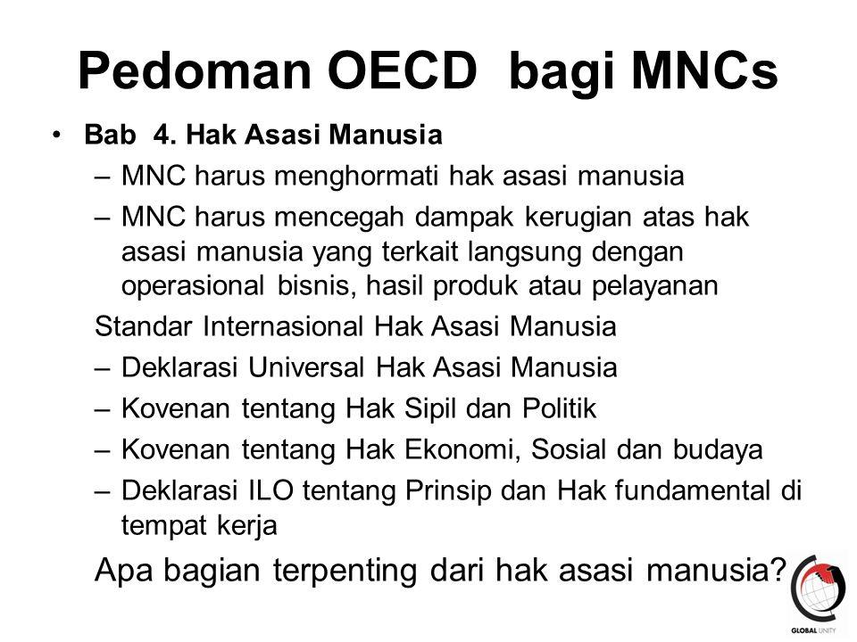 Pedoman OECD bagi MNCs Apa bagian terpenting dari hak asasi manusia