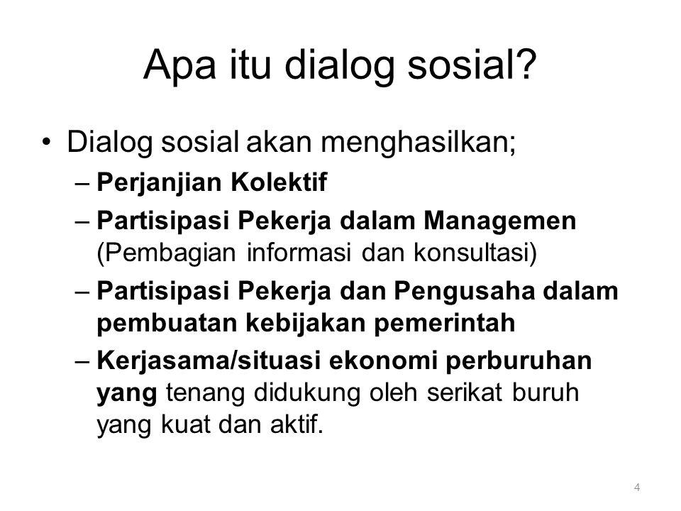 Apa itu dialog sosial Dialog sosial akan menghasilkan;