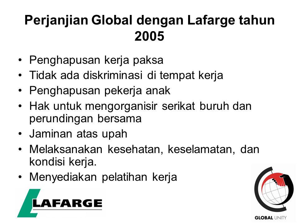 Perjanjian Global dengan Lafarge tahun 2005