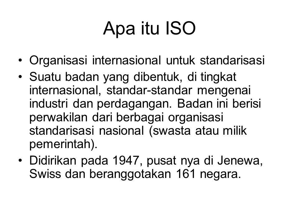 Apa itu ISO Organisasi internasional untuk standarisasi