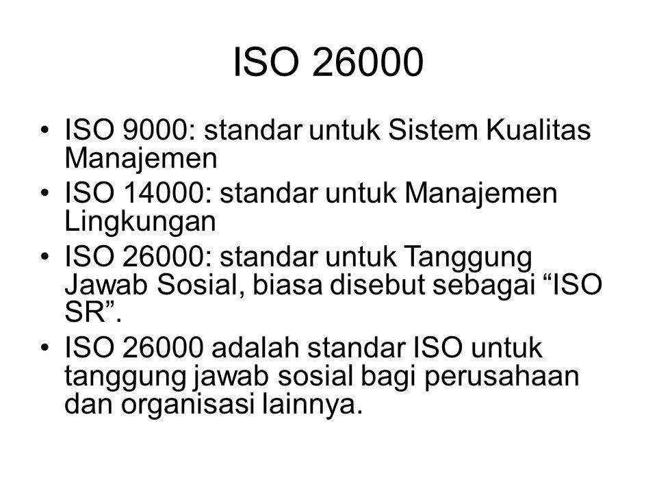 ISO 26000 ISO 9000: standar untuk Sistem Kualitas Manajemen