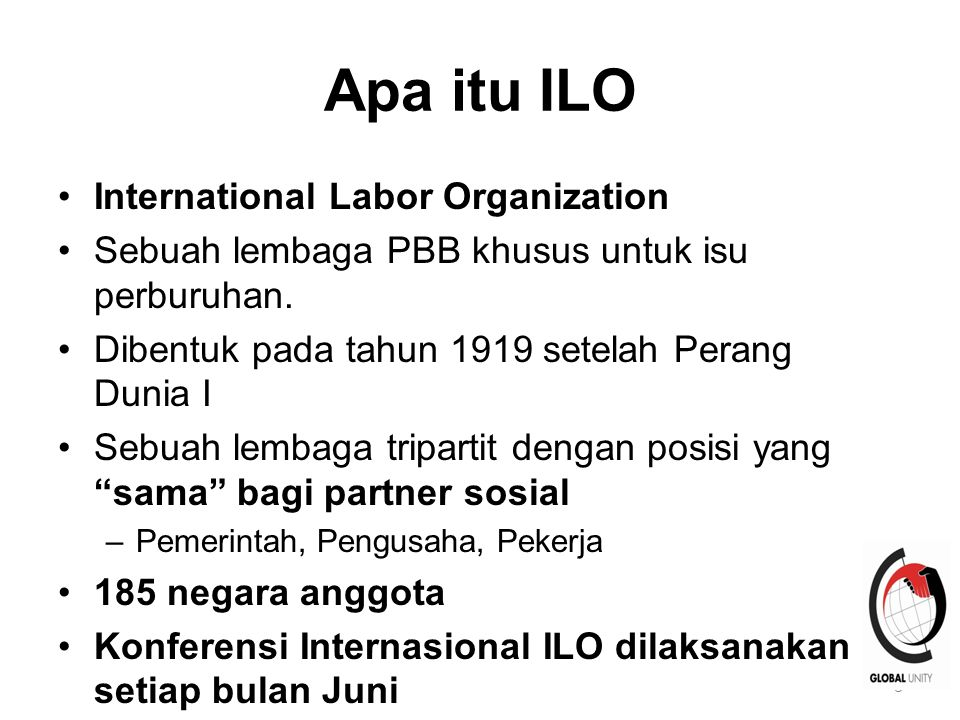 Apa itu ILO International Labor Organization