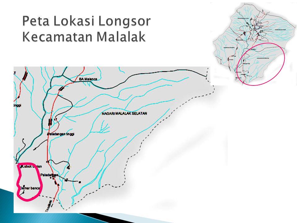 Peta Lokasi Longsor Kecamatan Malalak
