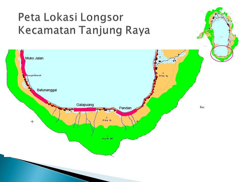 Peta Lokasi Longsor Kecamatan Tanjung Raya