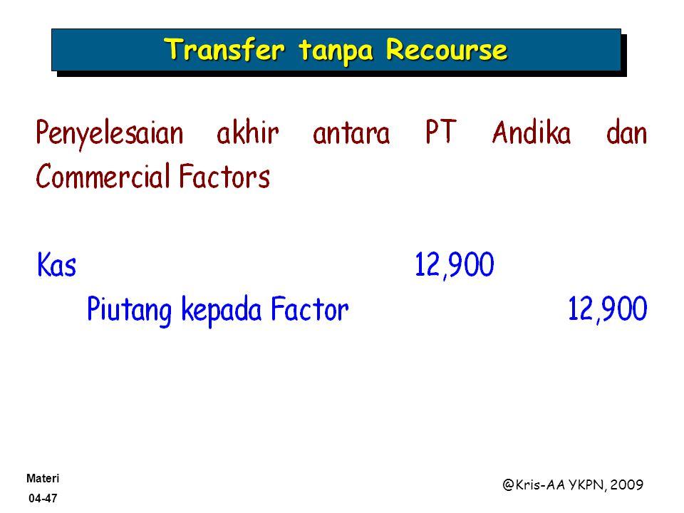 Transfer tanpa Recourse