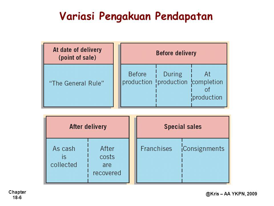 Variasi Pengakuan Pendapatan