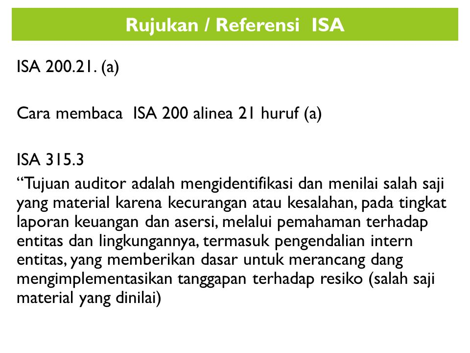 Rujukan / Referensi ISA