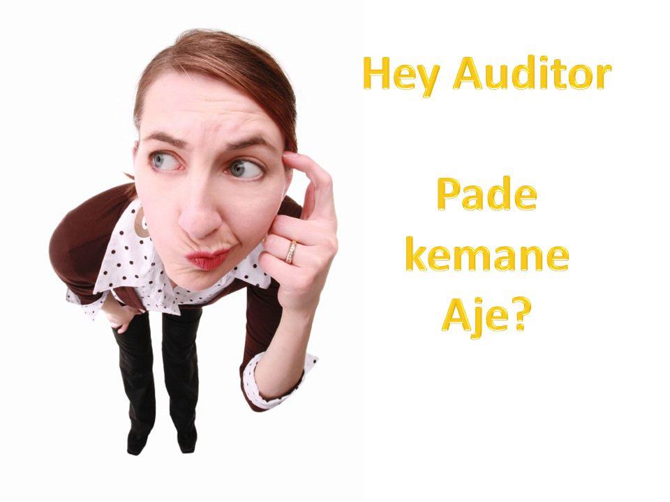 Hey Auditor Pade kemane Aje