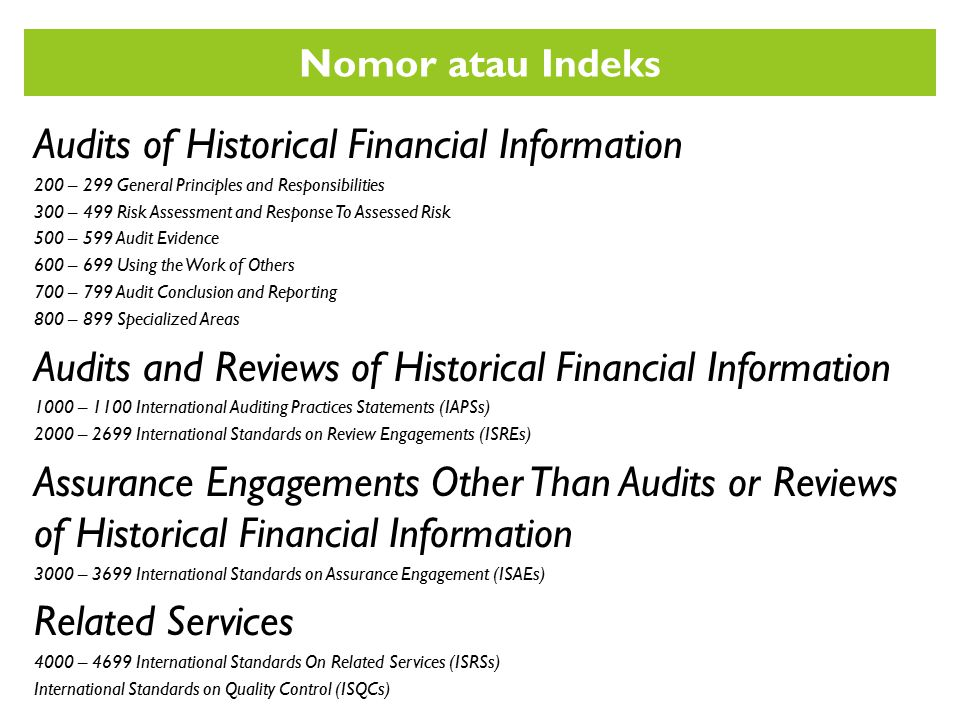 Audits of Historical Financial Information