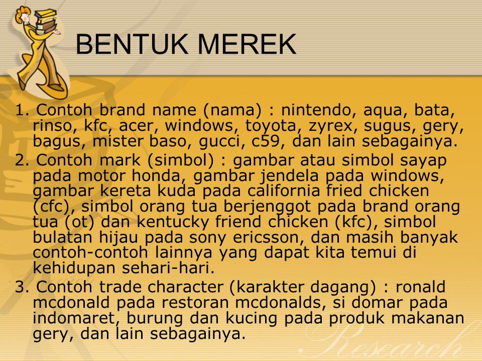BENTUK MEREK