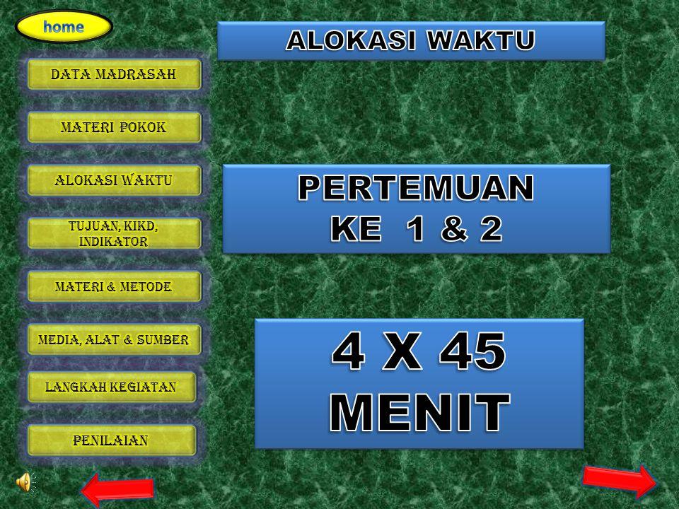 ALOKASI WAKTU PERTEMUAN KE 1 & 2 4 X 45 MENIT