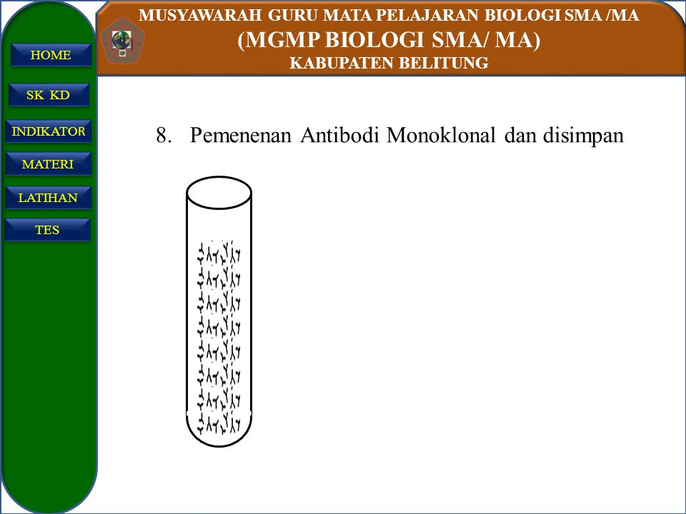 Pemenenan Antibodi Monoklonal dan disimpan