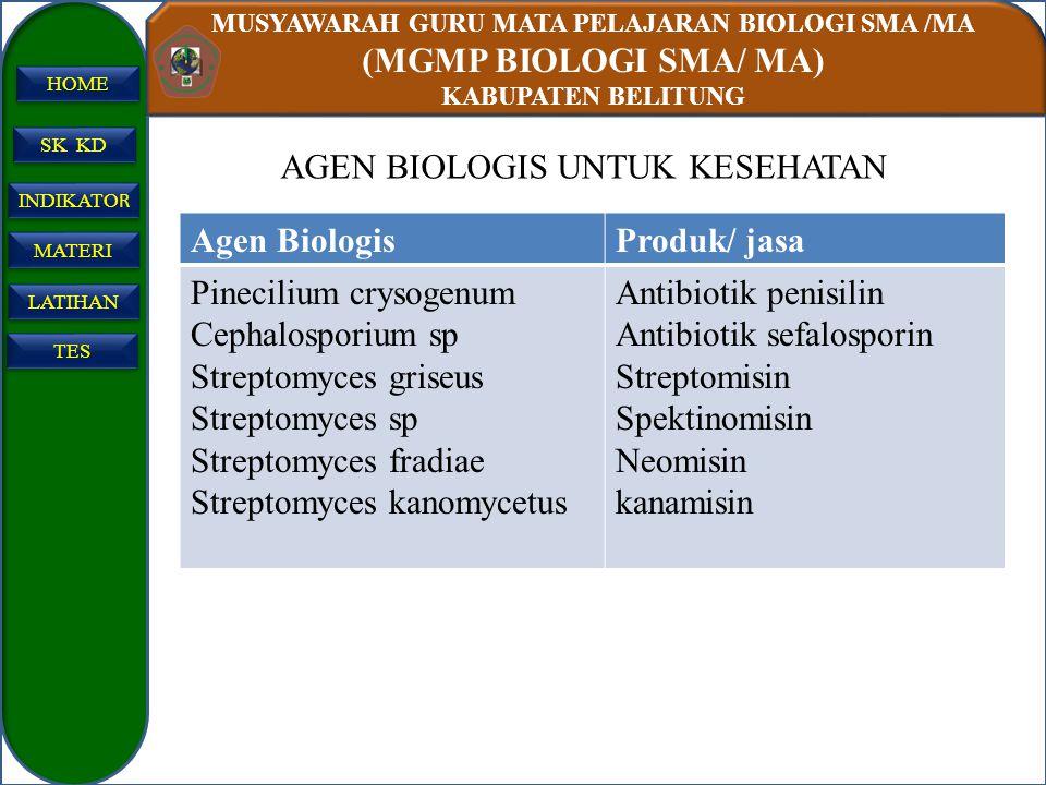 AGEN BIOLOGIS UNTUK KESEHATAN