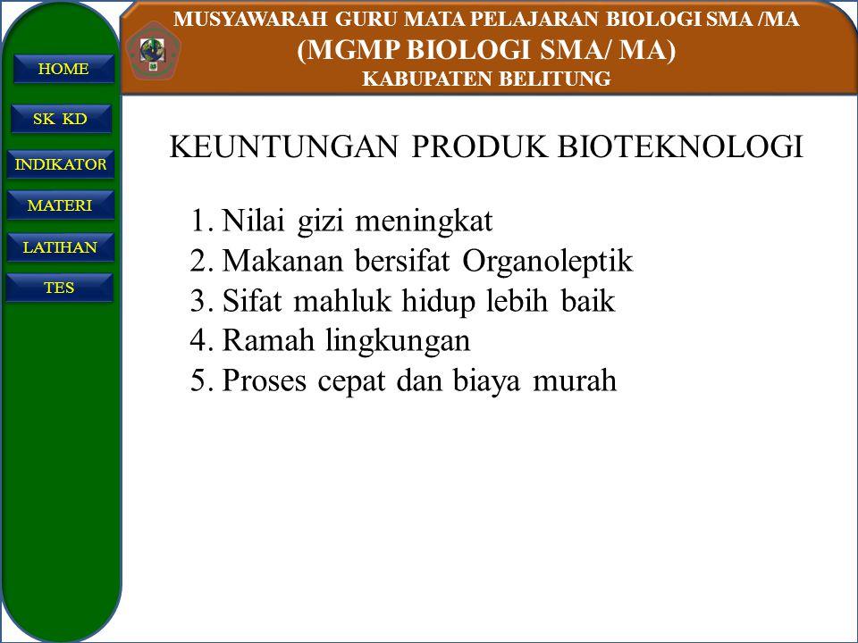 KEUNTUNGAN PRODUK BIOTEKNOLOGI