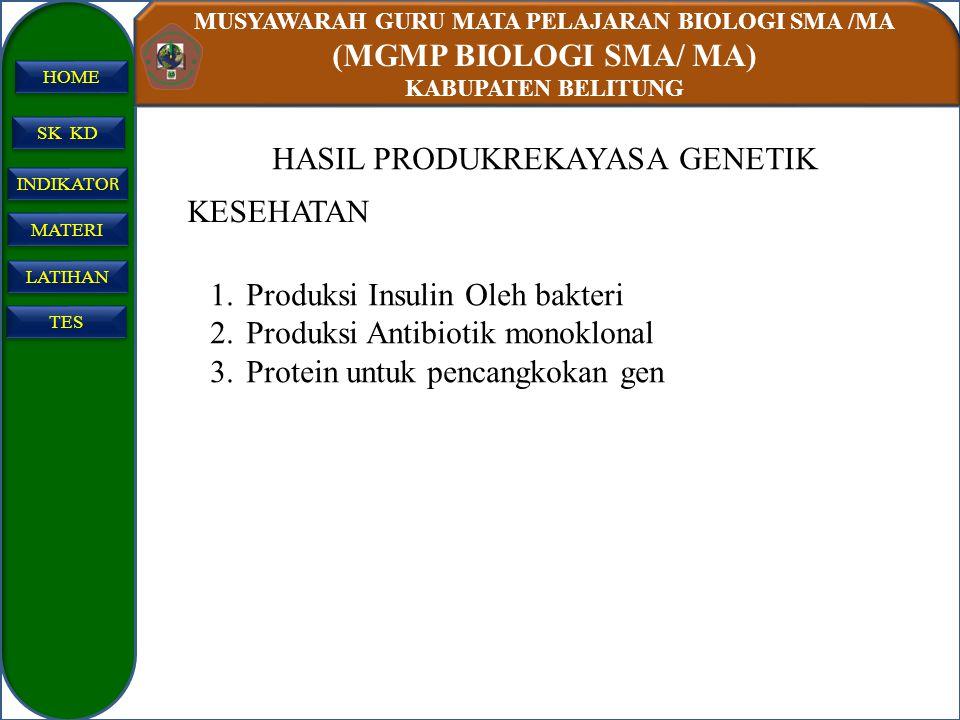 HASIL PRODUKREKAYASA GENETIK