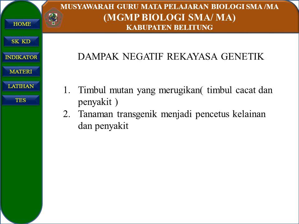 DAMPAK NEGATIF REKAYASA GENETIK