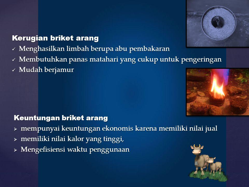 Menghasilkan limbah berupa abu pembakaran
