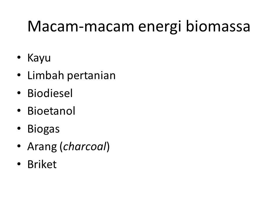 Macam-macam energi biomassa