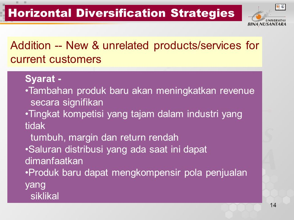 Horizontal Diversification Strategies