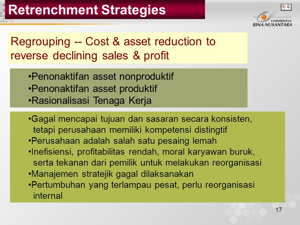 retrenchment strategy