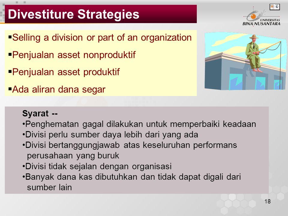 Divestiture Strategies