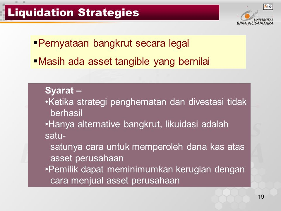 Liquidation Strategies