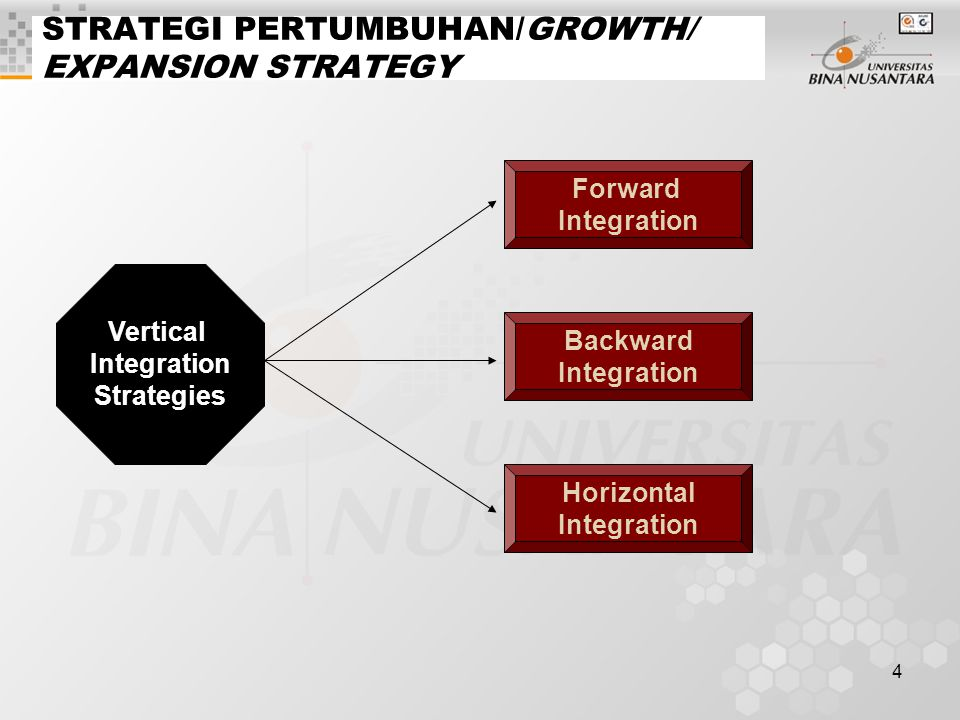 STRATEGI PERTUMBUHAN/GROWTH/ EXPANSION STRATEGY