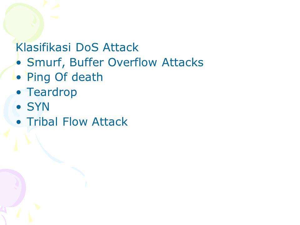 Klasifikasi DoS Attack