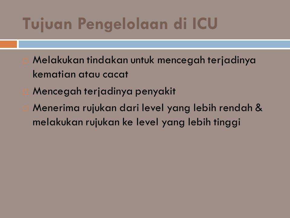 Tujuan Pengelolaan di ICU
