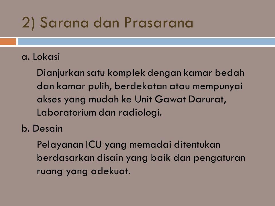 2) Sarana dan Prasarana