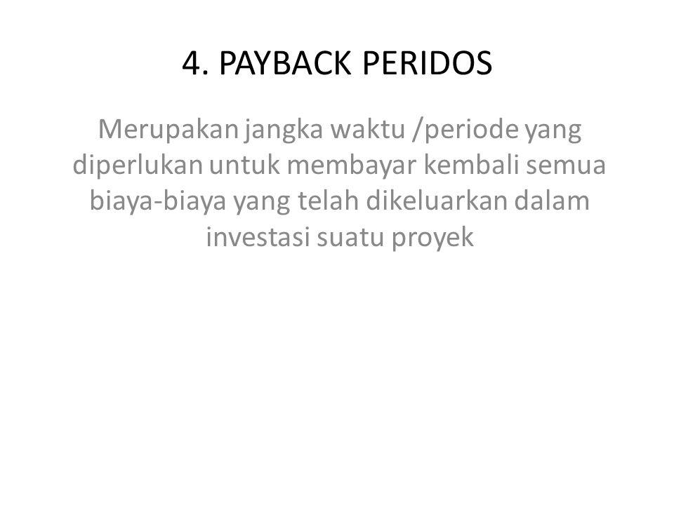 4. PAYBACK PERIDOS